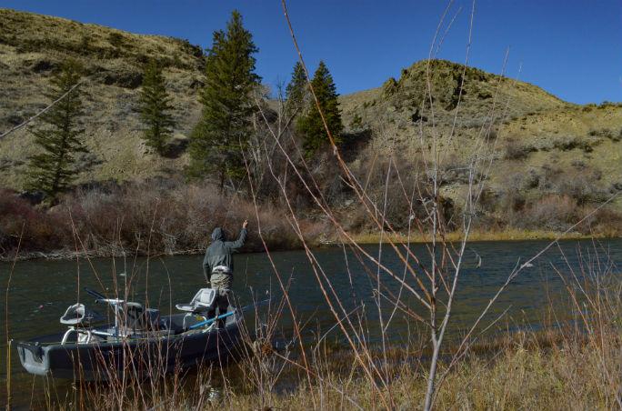 Boat fishing steelhead