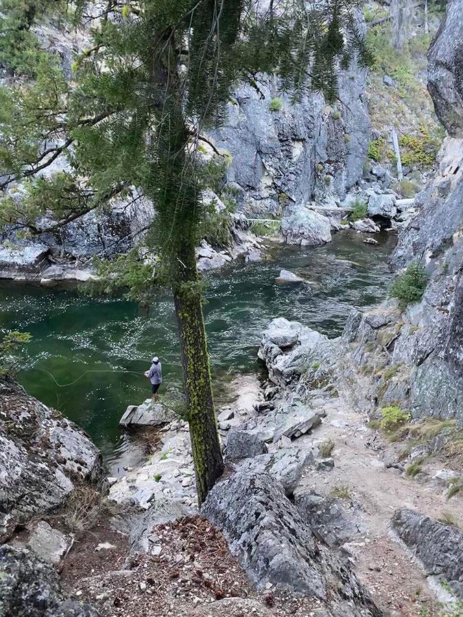 Fishing near Dagger Falls - Idaho's Frank Church Wilderness